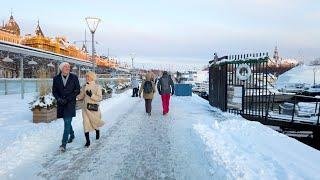 Winter Walk in Stockholm: Östermalm - Strandvägen (4K)