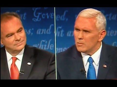 The BEST Of The VP Debate Between Mike Pence & Tim Kaine, It Gets Nasty