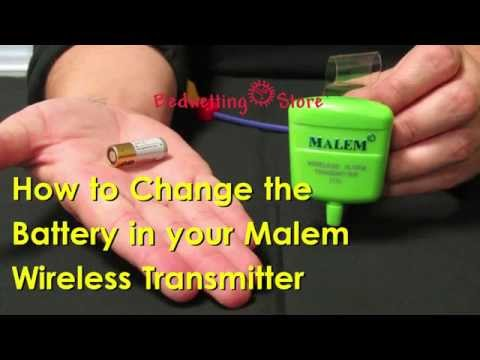Bedwetting Store - How to Change the Battery in your Malem Wireless Transmitter