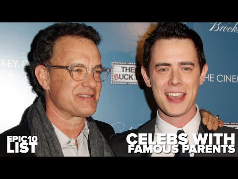 10 CELEBRITIES with FAMOUS PARENTS