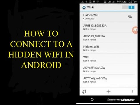 How to connect to a  hidden WiFi network in android
