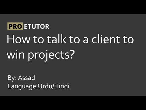How to talk to a client to win Jobs Urdu/Hindi