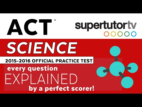 ACT EXPLANATIONS SCIENCE: ACT Official 2016-2017 Practice Test / Preparing Packet