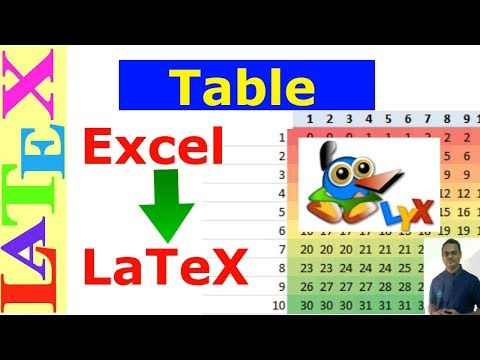 How to convert excel table to Latex table (Latex Tutorial, Episode-09, revamped)