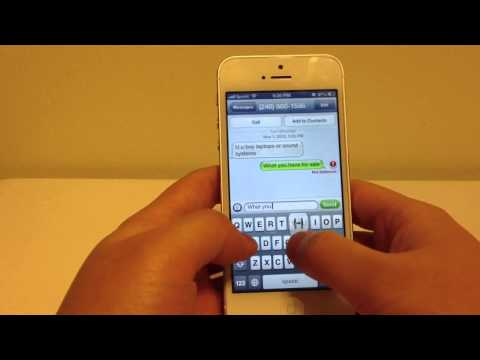 Sprint iPhone 5 Text Message Fail to Send Problem Issues