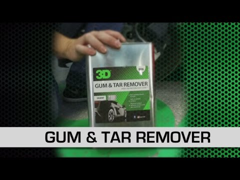 3D Products Gum & Tar Remover on Red Camaro