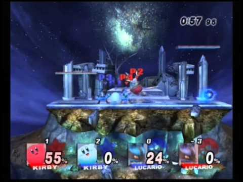 SSBB Online team battle on Spear Pillar (01/05/11)