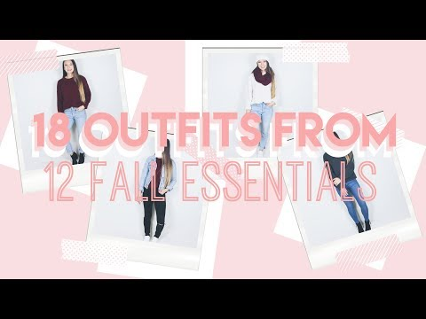 18 Casual Fall Outfits from ONLY 12 Clothes! // STARBUCKS GIVEAWAY ♡
