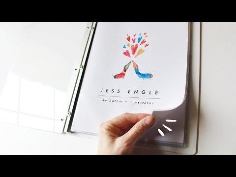 Putting Together My Illustration Portfolio!   Flip Through & How To
