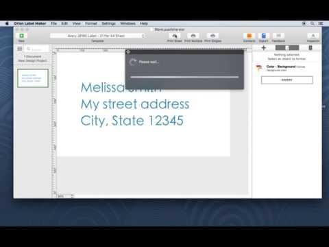 Label design on Mac: How to print return address labels using Avery J8160