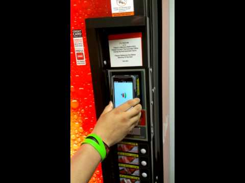 Using NFC on a vending machine