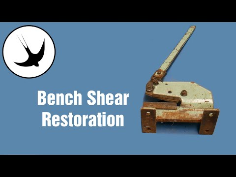 Bench shear Overhaul / Restoration (sheet metal shear) Swallow Forge