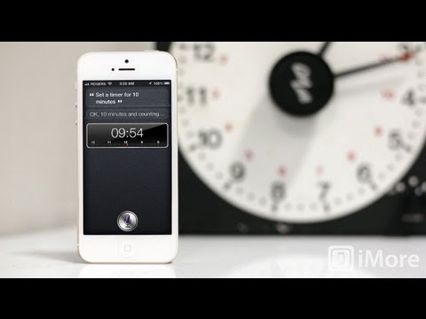 How to set alarms and timers using Siri