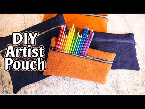 How to Make a DIY Pencil Pouch | Artist's Bag | Tool Pouch | Damsels in DIY Tutorial