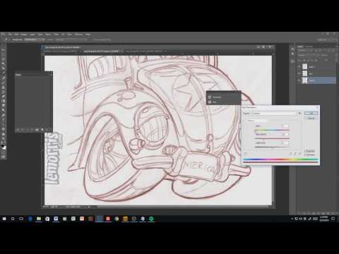 Tutorial: Setting up a digital inking brush in Photoshop