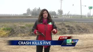 5 killed in crash near Stockton