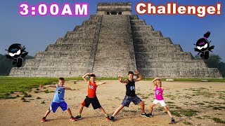 Exploring Mayan Pyramid in Mexico! 3AM Challenge!