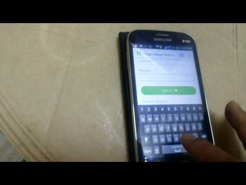 How to change password of skype in android phone
