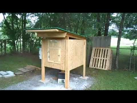 Chicken Coop   Nesting Box, Doors, and Trim, Finished Dry in