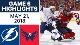 NHL Highlights | Lightning vs. Capitals, Game 6 - May 21, 2018