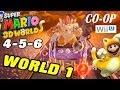 Lets Play Super Mario 3D Worlds World 1 4 5 6 Co Op WiiU Gameplay Pt 2 Boss Battle