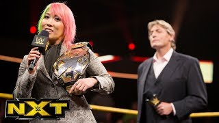 Asuka relinquishes the NXT Women