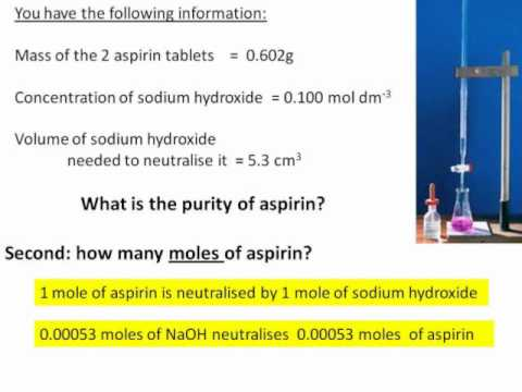 Calculating the purity of aspirin