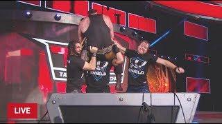 #RAW The Shield Triple Power Bomb Braun Strowman #WWE RAW 10/9/17