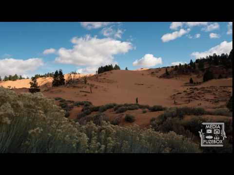 TIme lapse at red sanddunes in the Utah desert
