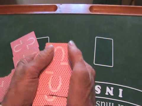 DEALING BLACKJACK  (PITCHING THE CARDS)