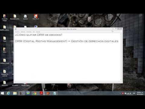 Cómo quitar DRM de ebooks (SIN calibre)
