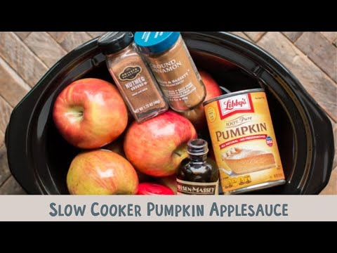 Slow Cooker Pumpkin Applesauce