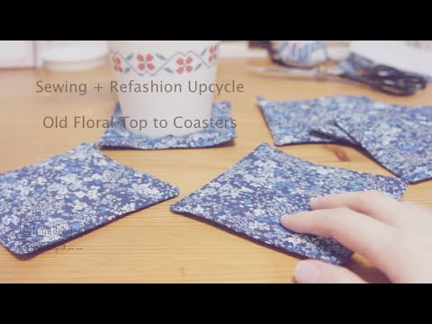 Refashion Upcycle DIY Coasters // 簡単 古着リメイク コースターの作り方ㅣmadebyaya