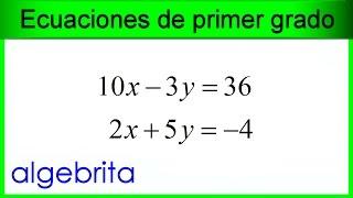 Ecuaciones Simultáneas De Primer Grado Con Dos Incógnitas , Método De Determinantes 438