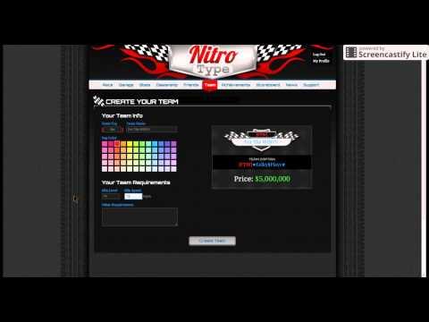 Nitro Type - creating team AGT!!!