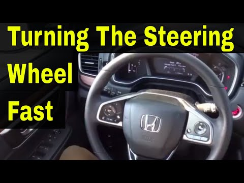 Turning The Steering Wheel Fast-Driving Lesson For Beginners