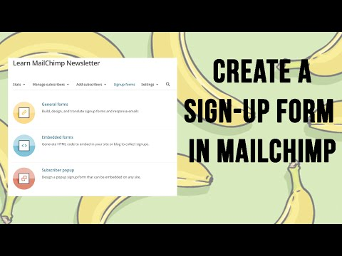 MailChimp 2016 - Create an Email Sign-Up Form