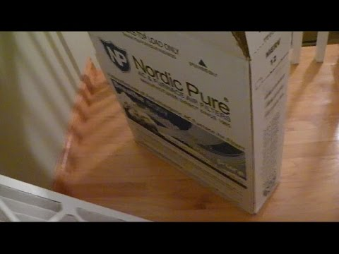Nordic Pure HVAC Air Filter Review and Install for Central Air Conditioning or Furnace