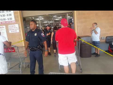 Police let in 10 customers at a time into Costco. Water sold out in 30 minutes