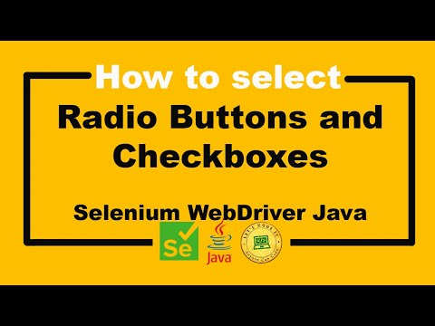 Selenium WebDriver Tutorial - How to select Radio Buttons and Checkboxes