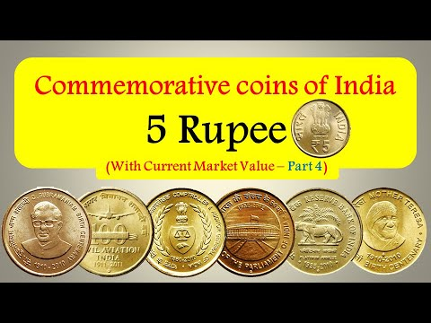 Commemorative coins of India with current market value - 5 rupee ( Part - 4 )