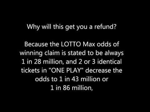 LOTTO Max QUEBEC REFUND Method - WIN or LOSE