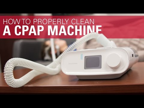 How to Properly Clean a CPAP Machine