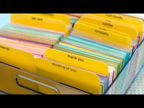 Handmade Card Organization