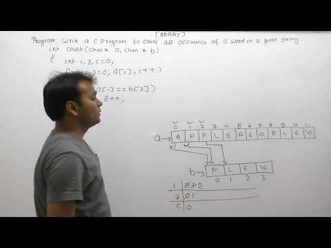 Find all occurrences of a substring in a string c  Count occurrences of word in string c Part841