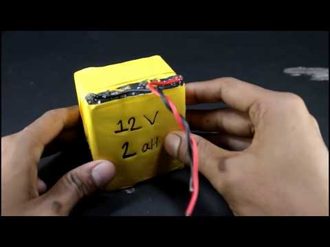 How to make simple 12v battery at home easily||DIY