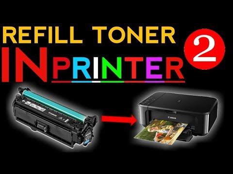 how to refill laser printer toner cartridge Hp & Canon part - 2
