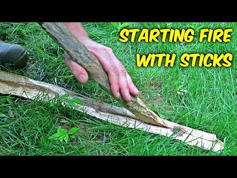 Starting Fire with Sticks -