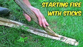 "Starting Fire with Sticks - ""Fire Plow"""