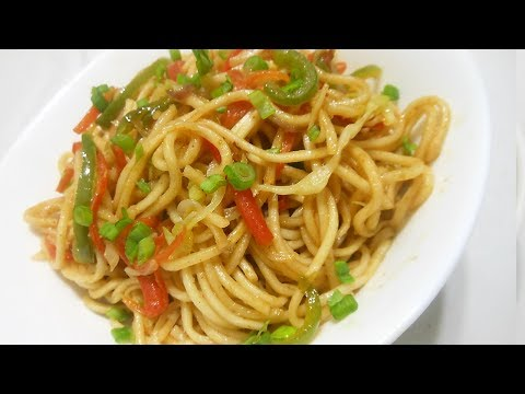 5 Minute Veg Chowmein, चाऊमीन, Veg Noodles Recipe in Hindi, Indo Chinese Noodles Recipe, چاومین